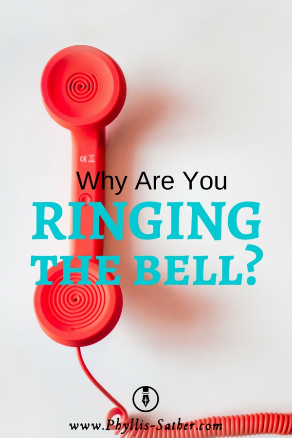 """The problem is, he's learned that when he rings the bell, several people usually come running and he's begun to use it to """"summon his servants"""" – if you know what I mean. When he wants attention he simply rings his bell."""