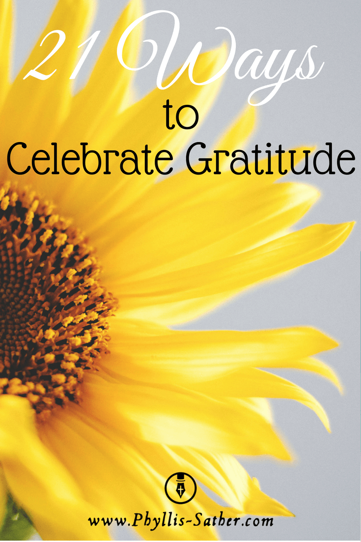 Thanksgiving season is soon approaching and this year, I encourage you to take the opportunity to celebrate gratitude.  In the midst of the hustle and bustle of this holiday season, take a moment (or two) to celebrate gratitude.