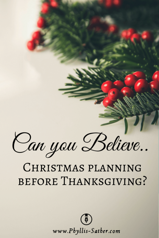 Can you believe...Christmas planning before Thanksgiving?
