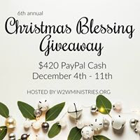 Christmas Blessing Giveaway $420 Paypal Cash