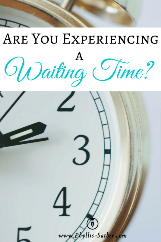 It seems like everyone in our home is currently waiting for something. I don't think anyone enjoys waiting, especially when they think what they are waiting for is overdue – perhaps even long overdue.