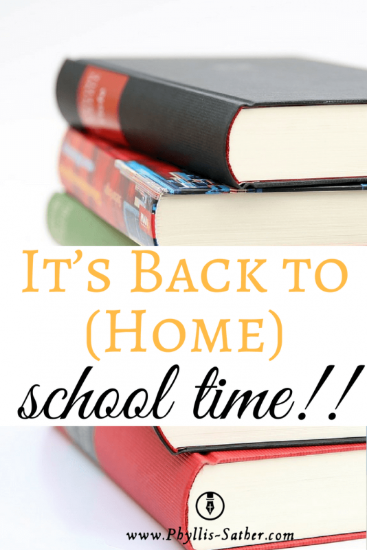 It's Back to (Home) School time!!